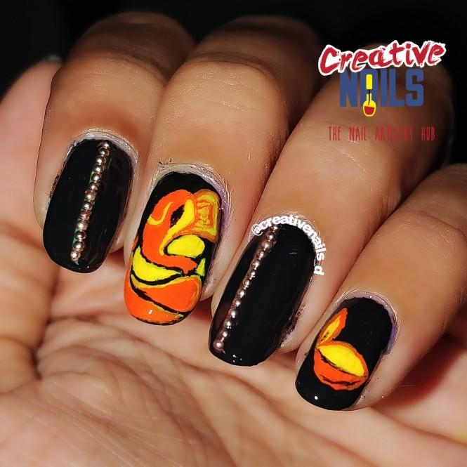 Free hand Ganesh nail art!