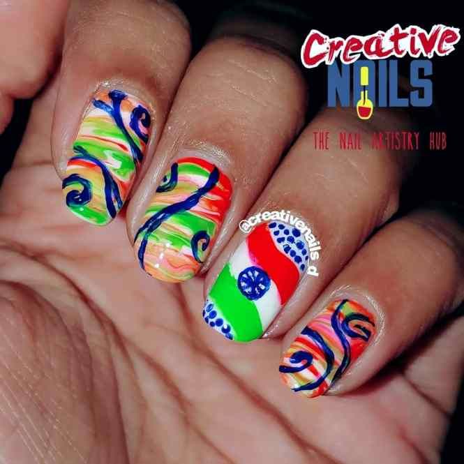 Happy 70th Republic Day Nail Art!