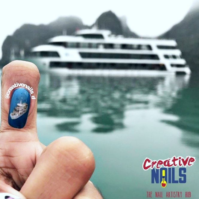 Photo Nail Art - Cruise Ha Long Bay